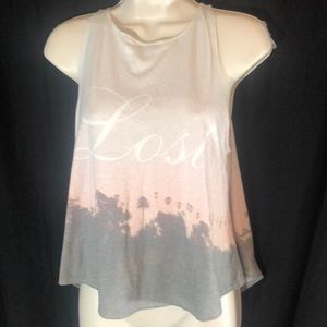 "NWT Wildfox ""lost"" tank top size small"
